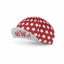 Red cycling cap