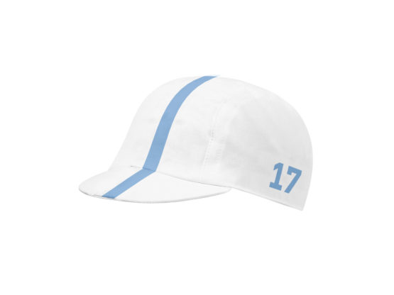 White Cycling cap