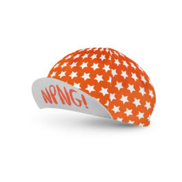Orange cycling cap