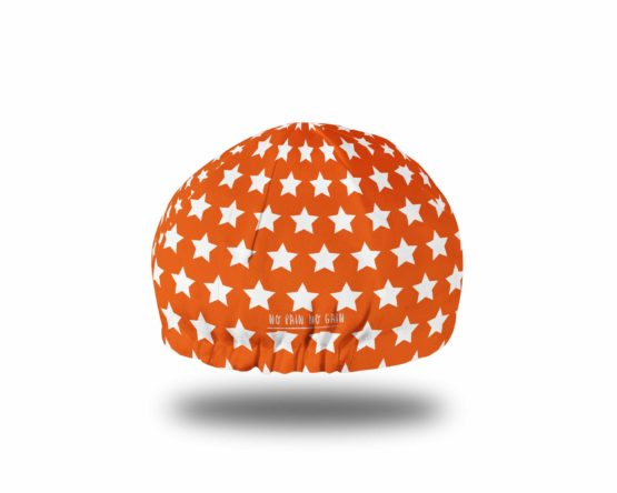 Orange cycling hat