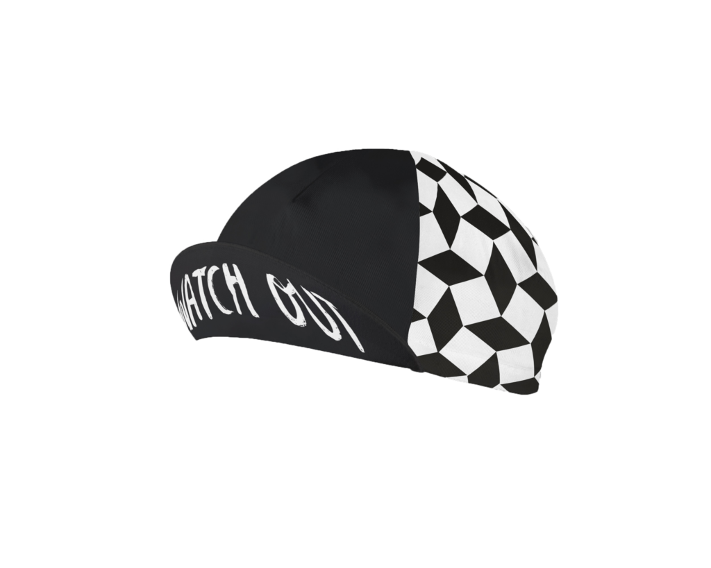 Cycling cap watch out