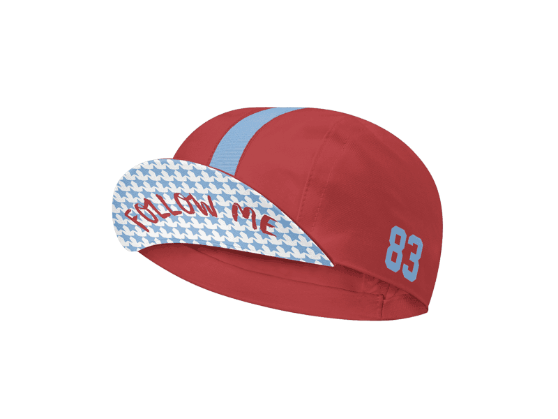 cool red cycling cap